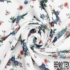 Crêpe Polyester Imprimé Motif Cashemire Polska fond Safran