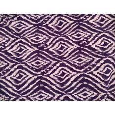 Piquet Polyester motifs Ivoire fond Violet