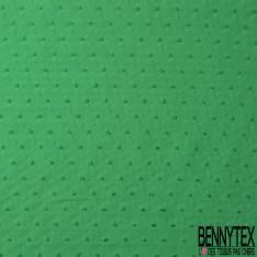 Plumetis De Coton Couleur Vert Sapin
