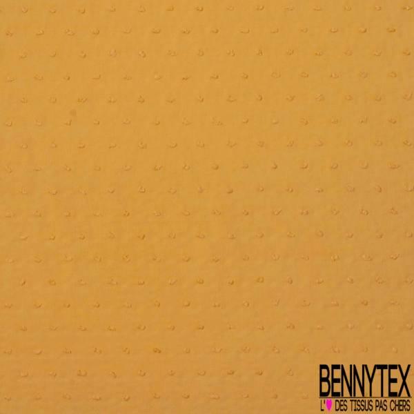 Plumetis De Coton Couleur Orange Givré