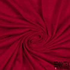 Jersey Modal Flammé Uni Rouge Pompier