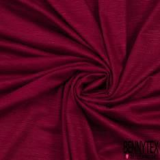 Jersey Modal Flammé Uni Rouge Bordeaux