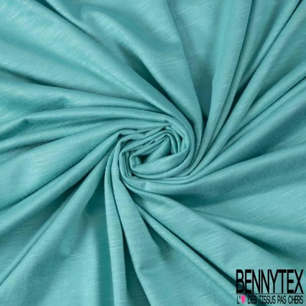 Jersey Modal Flammé Uni Vert Turquoise