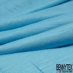 Jersey Modal Flammé Uni Bleu Turquoise