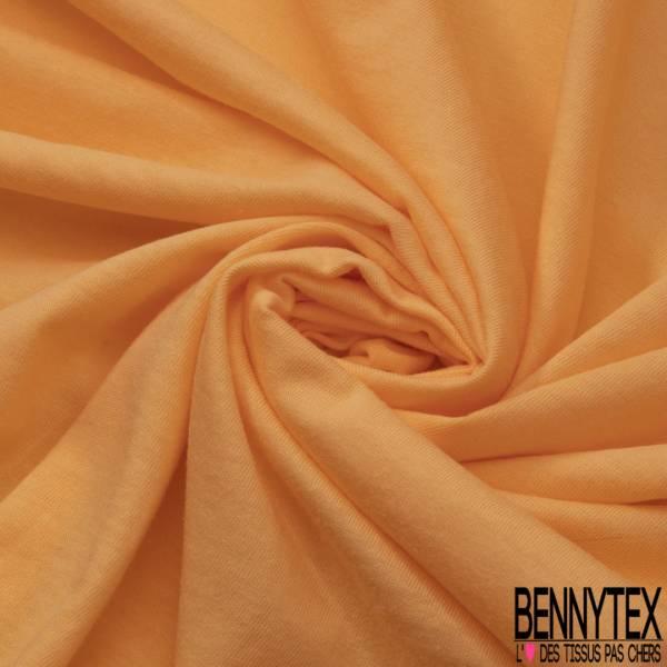 Jersey Coton Uni Orange Pastel