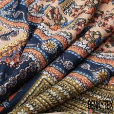 Maille Cristal Motif Patchwork Cachemire