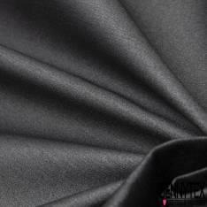 Gabardine de Coton Laquée Paillette Argent fond Noir