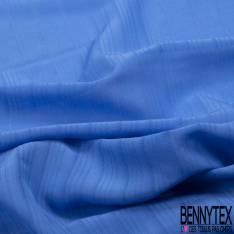 Coupon 3m Crêpe de Soie N°171: Motif Rayure Verticale Ton sur Ton Azur