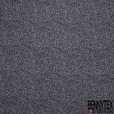 Jersey Polyester Motif Léopard Noir Gris