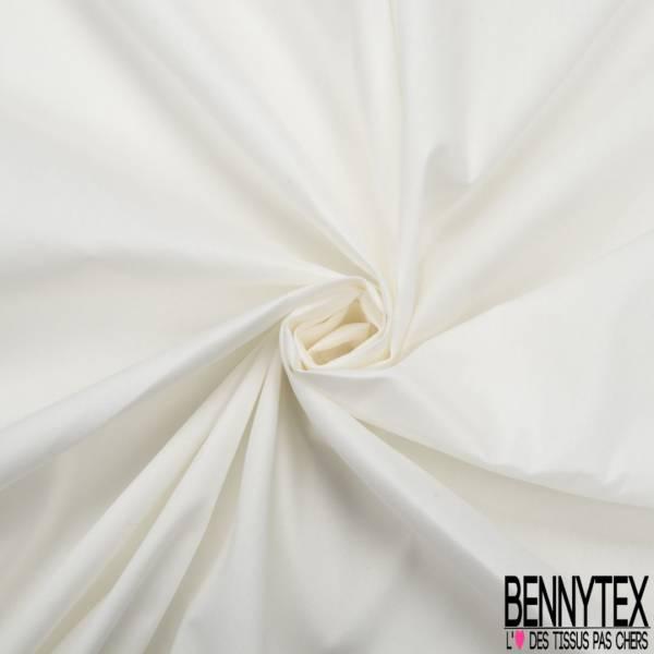 Popeline Coton Elasthanne Blanc