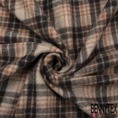 Drap de Laine Tartan Coloris Naturel