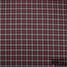 Coton Ecossais Grain Rouge Noir Blanc