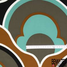 Crêpe de Soie Grand Imprimé Géométrique Seventies