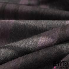 Tartan de Laine Purple Taupe Anthracite Ecru