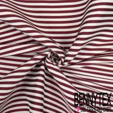 Toile Marinière Rouge Blanc Rayure Horizontale
