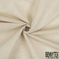 Coupon 3m Toile Lin Coton Coloris Naturel