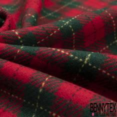 Tartan Ecossais Bleu Electrique Noir Jaune Vert Anglais fond Rouge