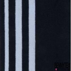 Bord Côte Bande Pré découpée Rayure Noir Blanc