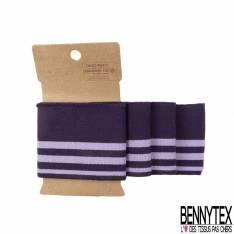 Bord Côte Bande Pré découpée Rayure Purple Lilas