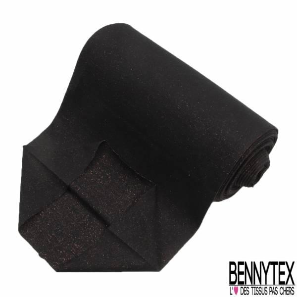 Bord Côte Tubulaire Noir Lurex Cuivre