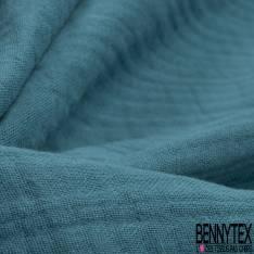 Triple Gaze de Coton Vert Paon