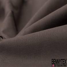 Coupon Polycoton Impression Motif petit Rouage et Goutte Fushia fond Blanc