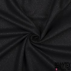 Laine Caban Souple Noir Lurex Or effet Rayure Horizontale