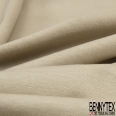 Jersey Coton Uni Vanille
