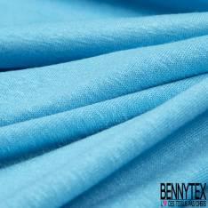 Jersey Viscose Uni Fluide Turquoise
