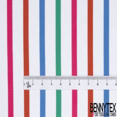 Meryl Polyamide Elasthanne Rayure Horizontale Berlingot Vert Bleu Fishia Rouge Blanc