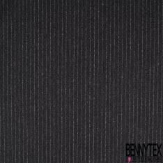 Polylaine Souple Légère Rayure Verticale et Pointillé Ecru Gris Noir