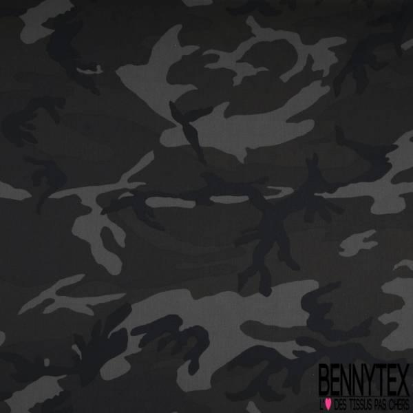 Coupon 3m Coton Polyester Elasthanne Kaki