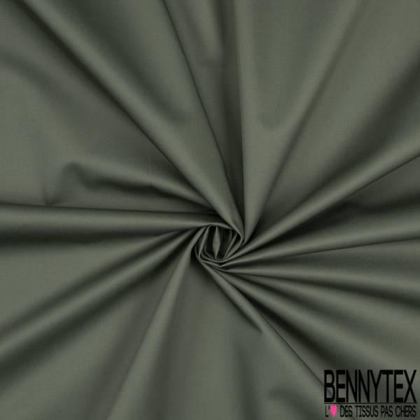 Gabardine Polycoton Sergé Uni Vert Lichen