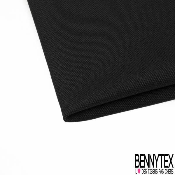 Toile de Coton Elasthanne effet Grain coloris Noir
