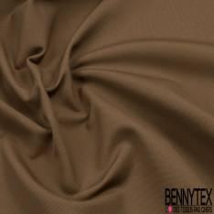 Toile de Coton Elasthanne effet Grain coloris Camel
