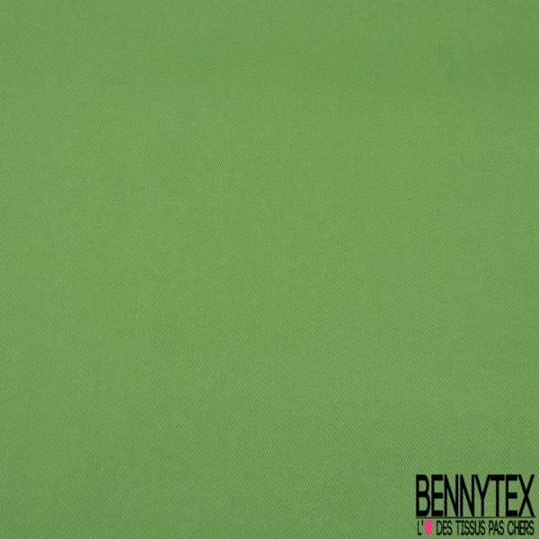 Gabardine Coton Souple Sergé Vert Pomme