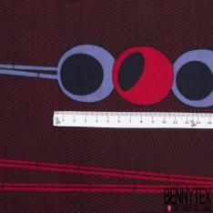 Wax Africain N° 806: Motif Fantaisie 3D Parme Rouge fond Motif Cravate