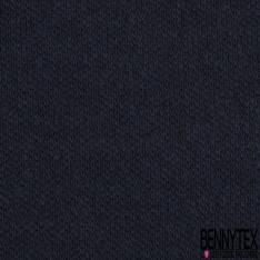 Laine Lourde Double Face Bord Côte 1x1 Recto Bleu Nuit Verso Anthracite