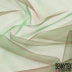 Organza coloris Turquoise Motif Etoile Argent