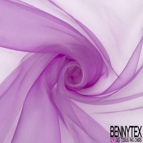 Organza Chatoyant coloris Violine Blanc