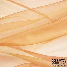 Organza Chatoyant coloris Rouge Corail Orange Givré