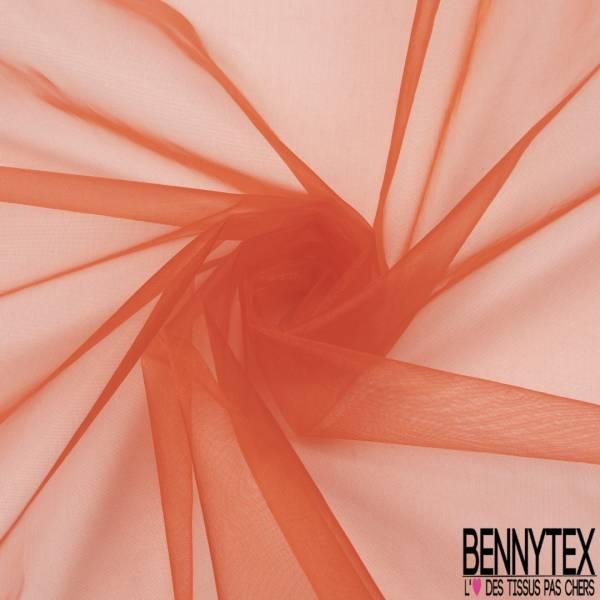 Organza coloris Rouge Corail