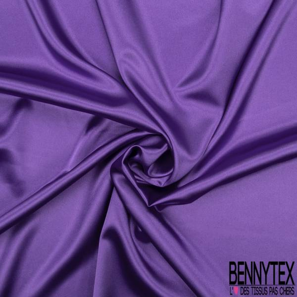 Satin Polyester Elasthanne Purple