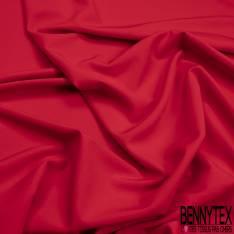 Crêpe Polyester Elasthanne Uni Rouge