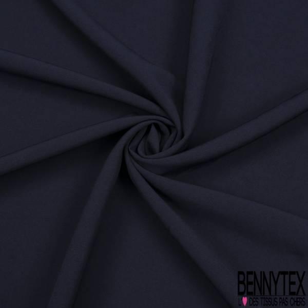 Crêpe Polyester Elasthanne Uni Bleu Nuit