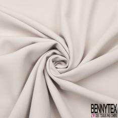 Coupon 3m Double Crêpe Polyester Elasthanne Uni Mastique