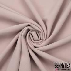 Coupon 3m Double Crêpe Polyester Elasthanne Uni Vieux Rose Poudré