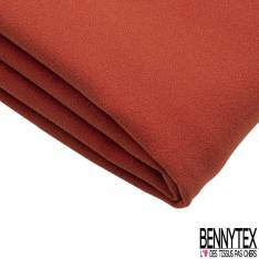 Coupon 3m Double Crêpe Polyester Elasthanne Uni Rouille