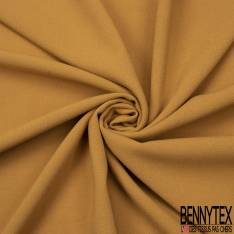 Coupon 3m Double Crêpe Polyester Elasthanne Uni Moutarde