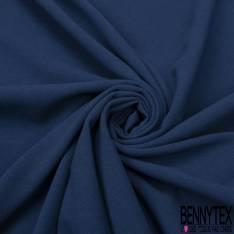 Coupon 3m Double Crêpe Polyester Elasthanne Uni Bleu Outremer